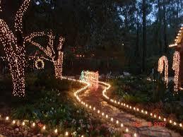 christmas light train display