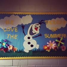summer bulletin board with olaf bulletin boards u0026 classroom