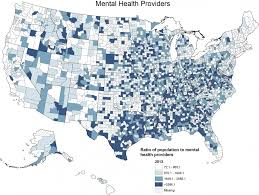 united states population map the health gap the worst places in america for mental health