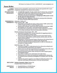 Job Resumes Samples by Good Resume Examples For Customer Service Resume Samples