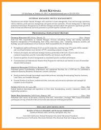 Hotel Manager Resume Resume Samples For Housekeeping Jobs Bio Letter Format