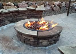 Fire Pit Kit Stone by Stone Fire Pit Kit Outdoor Propane Gas Home Fireplaces Firepits