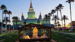 oakland california lds mormon temple christmas lights come on