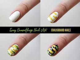 nail art sally hansen camouflage nail art tutorial chalkboard