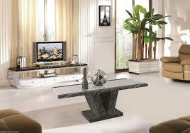 marble effect stone made coffee table in black brown and cream