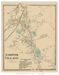 Town Map Of Massachusetts by Andover Village Massachusetts 1872 Old Town Map Reprint Essex