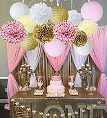 pink and gold party supplies wcaro mixed pink gold white party decor kit paper lantern paper