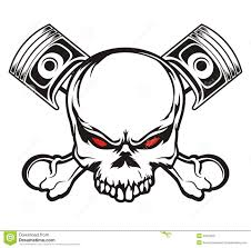 skull and piston stock illustration image of design 49578022