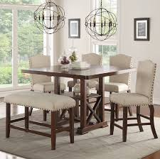 Counter Height Dining Room Chairs Canora Grey Chevaliers 6 Counter Height Dining Set Reviews