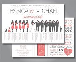 wedding program layout silhouette wedding program wedding party horizontal layout