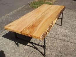driftedge woodworking live edge cedar coffee table with steel