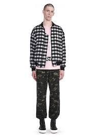 Wool Bomber Jacket Mens Plaid Wool Bomber Jackets And Outerwear Alexander Wang