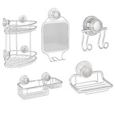 Interdesign Bathroom Accessories Interdesign Metro Turn N Lock Suction Shower Accessories Bed