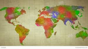 Watercolor Map Of The World by Watercolor World Map Animation Stock Animation 5503682