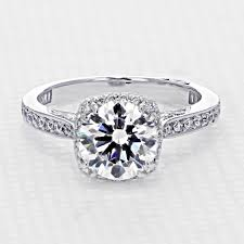 tacori dantela tacori dantela engagement ring with moissanite icing on the ring