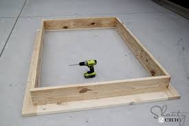 How To Make Wood Platform Bed Frame by Easy Diy Platform Bed Shanty 2 Chic