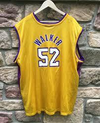 2001 samaki walker los angeles lakers champion nba jersey size 52
