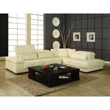 Leather Sectional Sofa Bed by Bella Cream Leather Sectional Sofa By Creative Neo Furniture