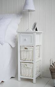 girls white bedside table white bedside table in bar harbor with baskets and drawer diys