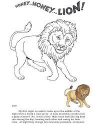 honey lion coloring pages lion