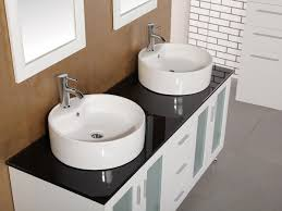 Glass Bathroom Sink Vanity Bathroom Modern Double Sink Vanity Lighting With Wall Sconces And