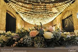 Ceiling Drapes With Fairy Lights Fairy Light Hire Wedding And Event Lighting By Oakwood Events