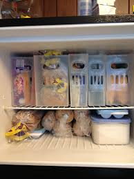 small freezer organized done or made pinterest organizing