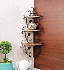 Wall Shelves Amazon by Artesia Wooden Corner Rack Home Decor Wall Shelf Amazon In Home