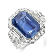 fd gallery an art deco sapphire and diamond ring by bulgari