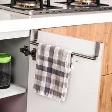 kitchen cabinet towel rack creazy over door towel rack bar hanging holder bathroom kitchen