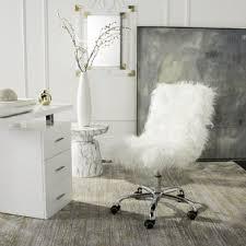 faux fur desk chair faux fur desk chairs you ll love wayfair ca