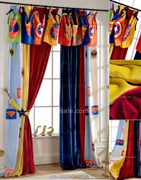 Curtains For Boys Room Curtains Colorful Superman Velvet Room Darkening No Valance