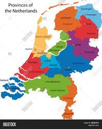 colorful netherlands map regions vector u0026 photo bigstock