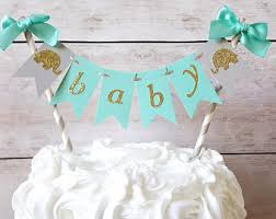 elephant baby shower cake topper etsy