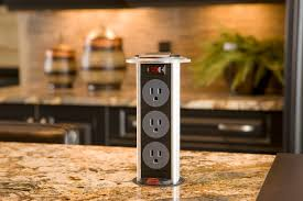 kitchen island electrical outlet trendy popup electrical outlets that make sense home
