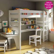 kids room awesome modern l shape white loft bed with desk design