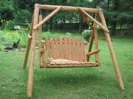 wooden log swings u2014 jbeedesigns outdoor elegant log porch swing