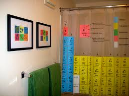 Periodic Table Shower Curtain Big Bang Theory A Surprisingly Colorful Science Geek Bathroom And A Buncha Little