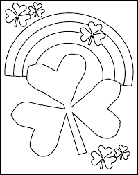 St Patrick S Day Shamrocks And Rainbows Free Coloring Pages For Day Printable Coloring Pages