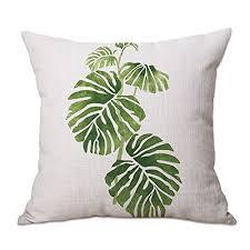 taie d oreiller pour canapé timorr housse de coussin vert tropical plante arbre feuilles couvre