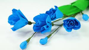 diy easy paper rose step by step flower making tutorial video