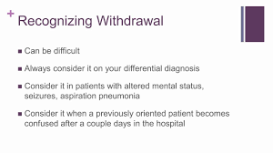 alcohol withdrawal in the intensive care unit youtube