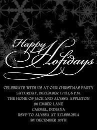 holiday party invitations event and wedding planning by prospect
