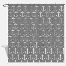 Nautical Anchor Shower Curtain Anchor Pattern Shower Curtains Cafepress