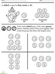 all worksheets counting pennies worksheets for kindergarten