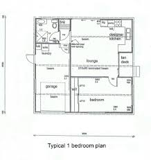 one bedroom cottage plan home design