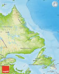 Map Of Europe Physical Features by Physical Map Of Newfoundland And Labrador
