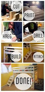 How To Build A Loft Bunk Bed With Stairs by Best 25 Bunk Bed Plans Ideas On Pinterest Boy Bunk Beds Bunk