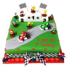 mario cake mario kart themed square cake