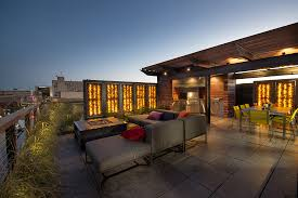 project rooftop elements pergola railing glass rock privacy walls